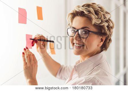 Beautiful Psychotherapist Working