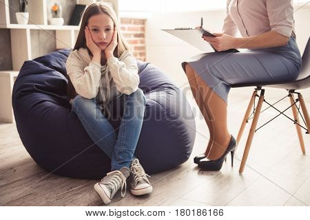 Teenager At The Psychotherapist