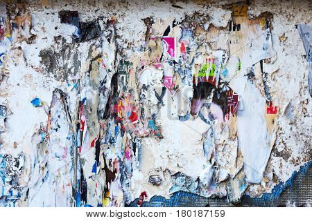 Street Poster Torn Of The Wall Graffiti Background