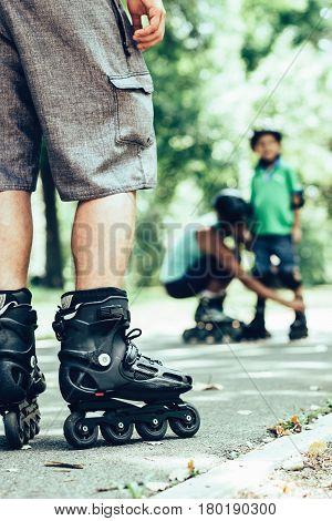 Roller Skaters In Focus