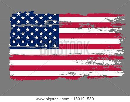 Flag USA. American Grunge background. Vector illustration
