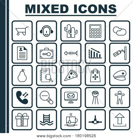 Set Of 25 Universal Editable Icons. Can Be Used For Web, Mobile And App Design. Includes Elements Such As Basin Ladder, Curriculum Vitae, Trading And More.