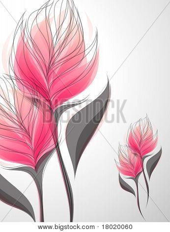 Vriesea. Vector Illustration.