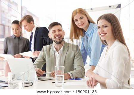 Group of people at business presentation