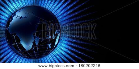 3D rendering. Globe.  Some elements provided courtesy of NASA