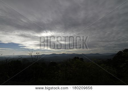 Great Smokey Mountain National Park Landscape on a Cloudy Day