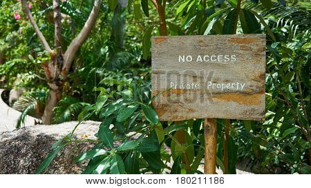 Sign No access Private Property Ko Tao