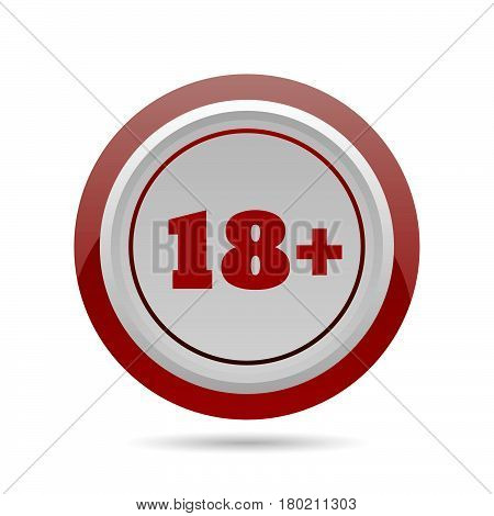 Restriction Of Age Sign Circle Icon Vector Eps 10