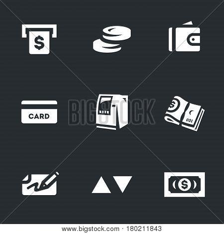 Money, coins, purse, bank card, equipment, banknotes, check, buttons, dollar.