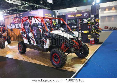 Bangkok Thailand. 28th Mar 2017. Can Am maverick x3 car on display at The 38th Bangkok International Thailand Motor Show 2017 on March 28 2017 Nonthaburi Thailand