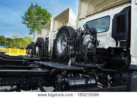 Trailer truck transport and the Logistic cargo