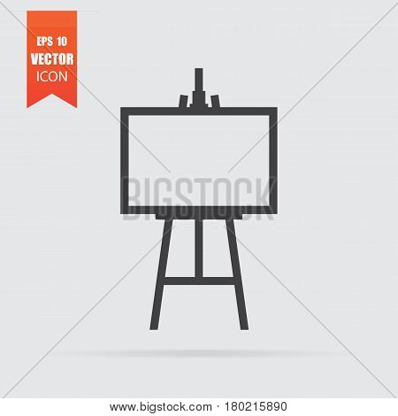 Easel Icon In Flat Style Isolated On Grey Background.