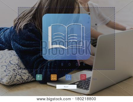 Kids playing games using tablet and laptop