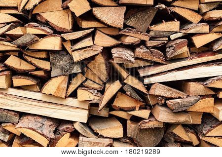 abstract detailed texture background of stack wood