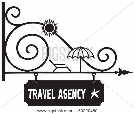 Creative signpost guide to the Travel Agency
