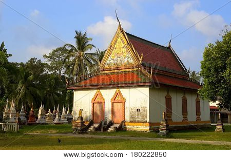 old Buddhist temple building near Songkhla, Thailand