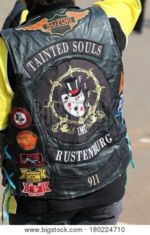 Club Jacket Worn By Member At Yearly Mass Ride
