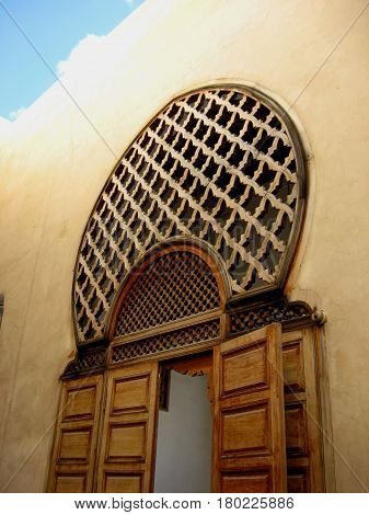 Just another ornate doorway in Morocco hearkens back to older days when the doorway to the home showcased the crafter.