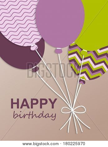 Happy Birthday. Vector illustration. Birthday card. Greeting card Happy Birthday.