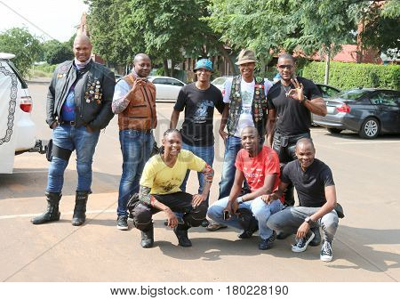 Group Of Black African Members At Yearly Mass Ride