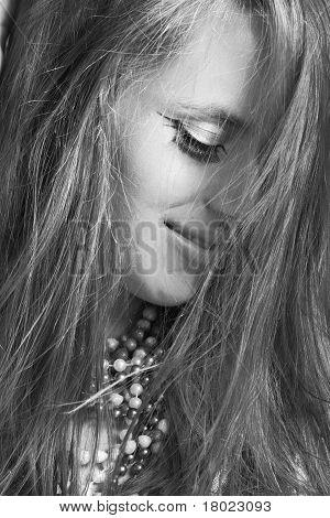 Beautiful Woman In Wind