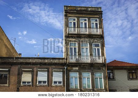 Residential buildings in Porto city in Portugal