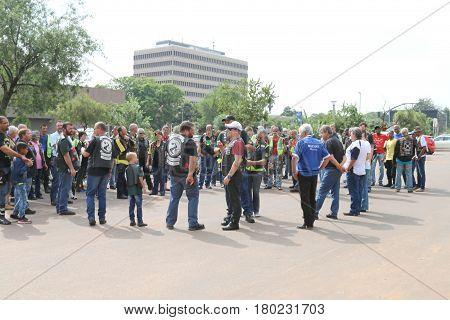 Members Gathering Prior To Yearly Mass Ride