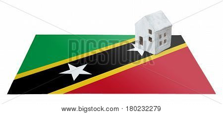 Small House On A Flag - Saint Kitts And Nevis