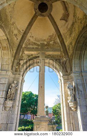 Jesus of Matosinhos (Bom Jesus de Matosinhos) monument and cross in Matosinhos city near Porto Portugal