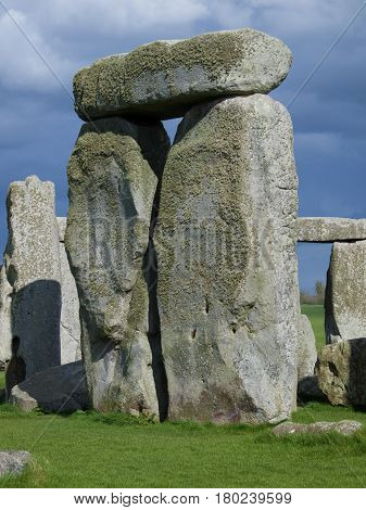 Large stone structure at Stonehenge, an English Heritage site