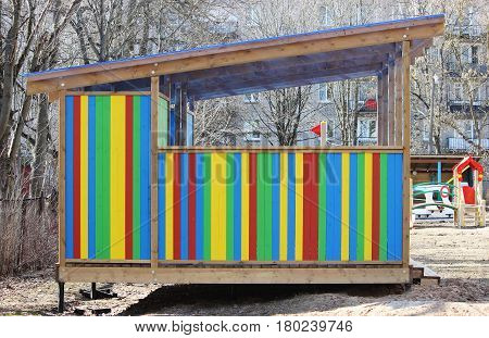 nice colorful arbor a kindergarten for children.