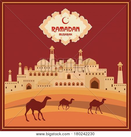 Ramadan Greeting Card Terracotta.eps