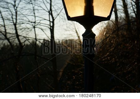 Photo of lantern at castle. Hohenschwangau Castle, Germany
