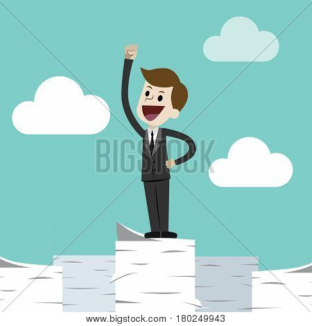 Job done. Flat style vector illustration clipart.