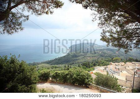 View of beautiful bay on Greece island outdoor