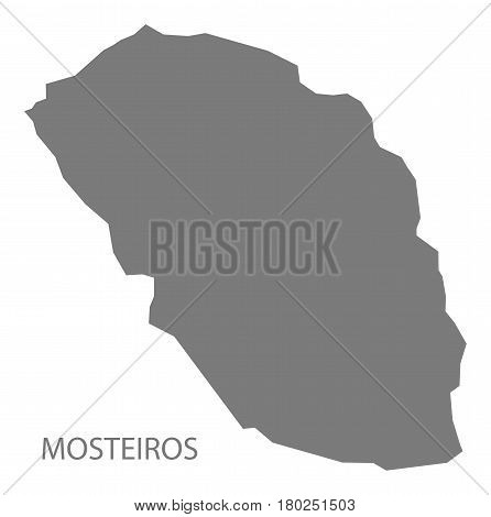 Mosteiros Cape Verde Municipality Map Grey Illustration Silhouette