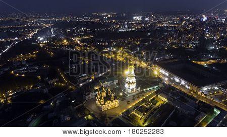 Kiev Pechersk Lavra church view from the height, Kiev, Ukraine