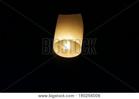 Sky Lanterns. The Sky Lanterns Are Released To The Night Sky As A Symbol Of Hope.