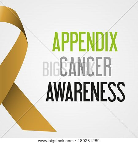 World Appendix Cancer Day Awareness Poster Eps10