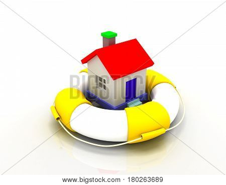 house protection concept. 3d illustration. . rendered illustration
