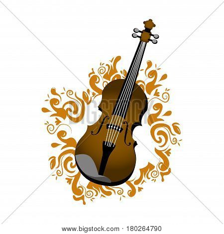 chello with musical notes vector illustration design