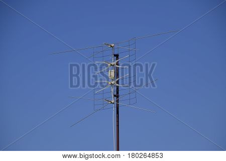 All-wave Inphase Antenna Lattice. The Television Antenna For Reception Of Radio Tv Of A Signal