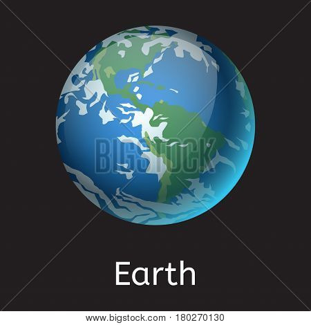 High quality space planet galaxy astronomy and earth universe science globe cosmos orbit star vector illustration. Astrology planetary world exploration journey scientific surface.