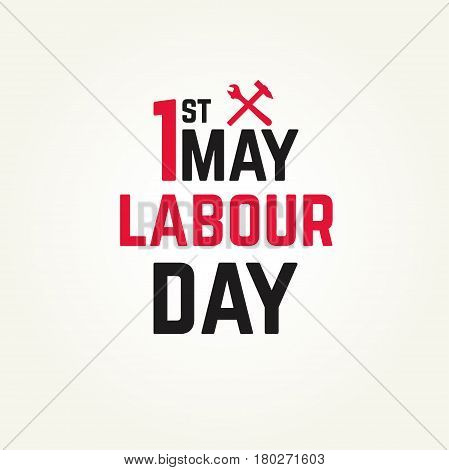 1 may - labour day. vector labour day poster or banner poster