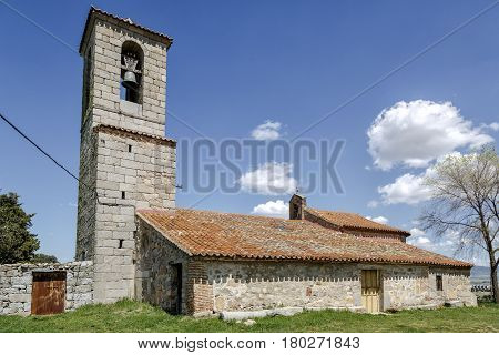 Church of Romanesque Vicolozano Avila Province Spain.