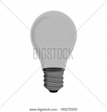 Incandescent Light Bulb 3d Illustration Isolated on White Background