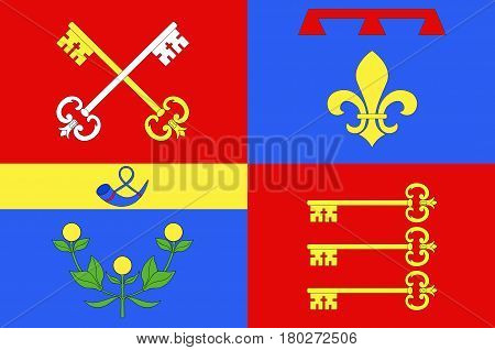 Flag of Vaucluse is a department in the southeast of France.