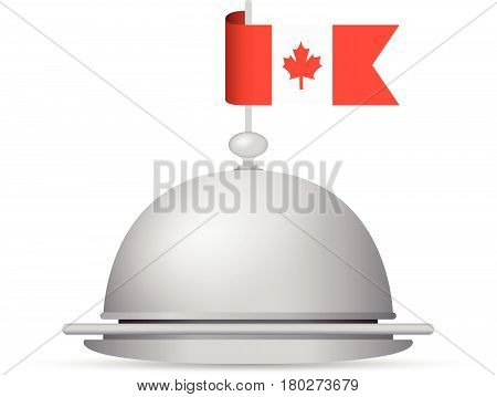 a red and white canada flag dinner platter