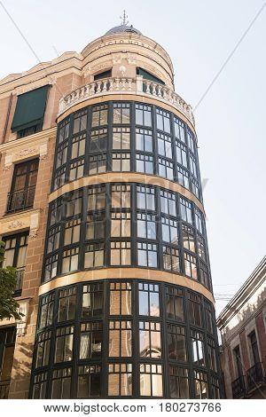 Valladolid (Castilla y Leon Spain): historic building with the typical verandas