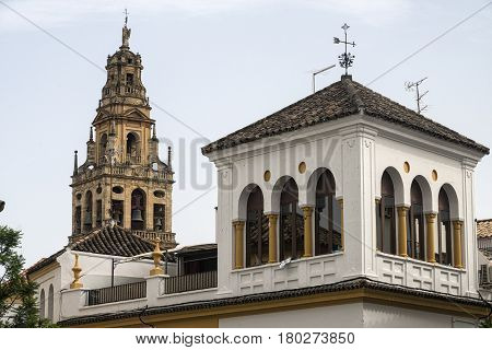 Cordoba (Andalucia Spain): belfry of the cathedral known as mezquita-catedral